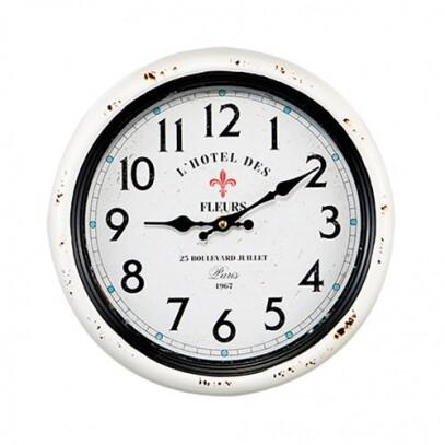 Relógio de Parede Branco em Metal Diâmetro 30cm