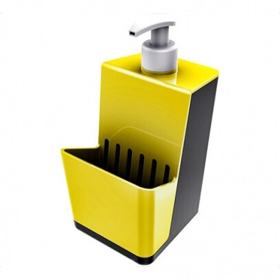 Dispenser Smart Preto com Amarelo 500ml
