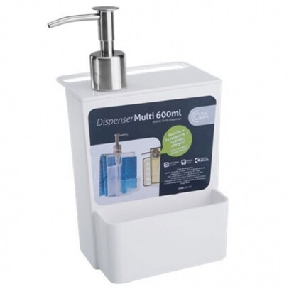 Dispenser Multi Branco 600ml Coza 12x10,6x20,8cm